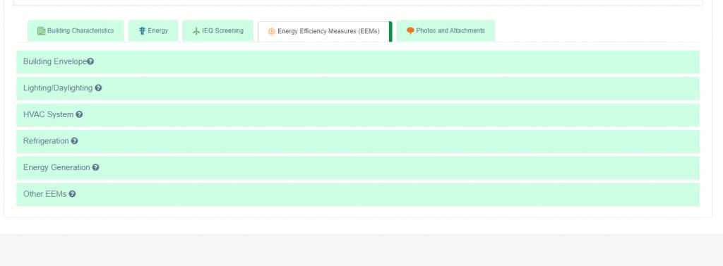 Building EQ EEM Categories